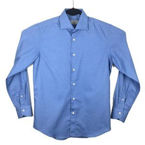 CURRENT Canali 1934 Blue Long Sleeve Shirt 15